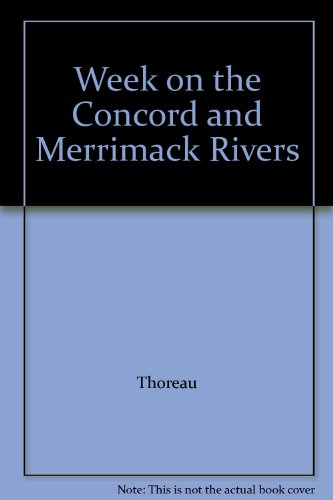 9780395082508: Week on the Concord and Merrimack Rivers