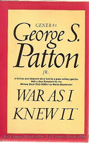 9780395087046: War as I Knew It (Military Book Club)