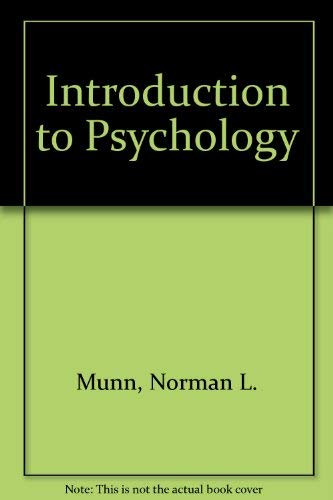 9780395126387: Introduction to Psychology