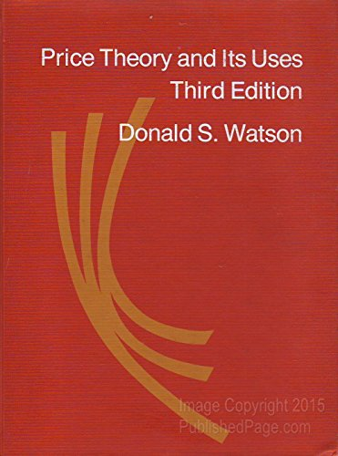 9780395133422: Price theory and its uses