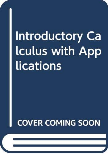 9780395138557: Introductory Calculus with Applications