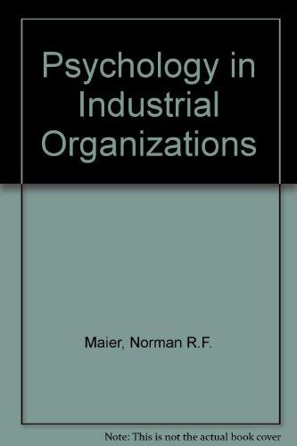 9780395140468: Psychology in Industrial Organizations