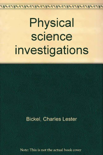 9780395140918: Physical science investigations