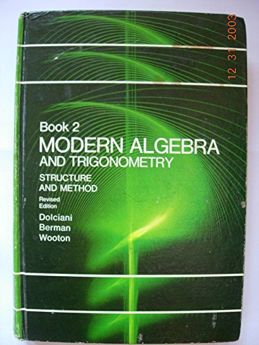 9780395142561: Modern Algebra and Trigonometry (Book 2) Structure and Method