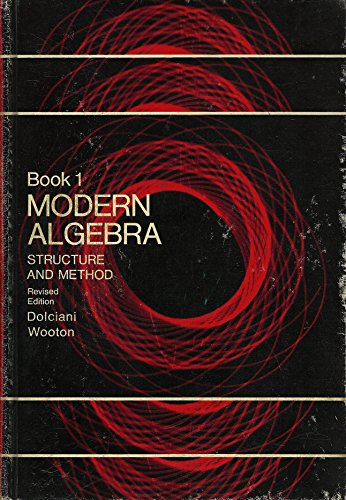 9780395143704: Modern algebra: Structure and method, Book 1