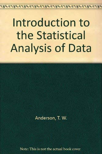 9780395150450: Introduction to the Statistical Analysis of Data