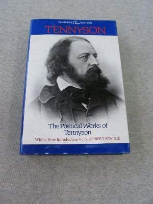 9780395180143: The Poetical Works of Tennyson. (Cambridge Editions)