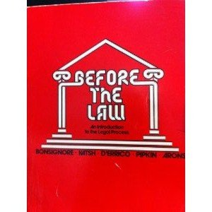 9780395181454: Before the Law: Introduction to the Legal Process