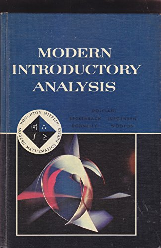 9780395184189: Modern Introductory Analysis Teacher's Manual