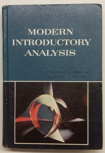 Modern Introductory Analysis: William Wooton