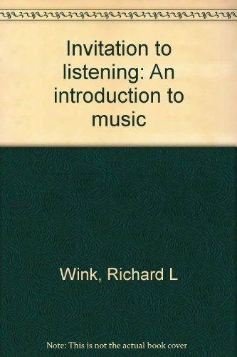 9780395186510: Invitation to listening: An introduction to music