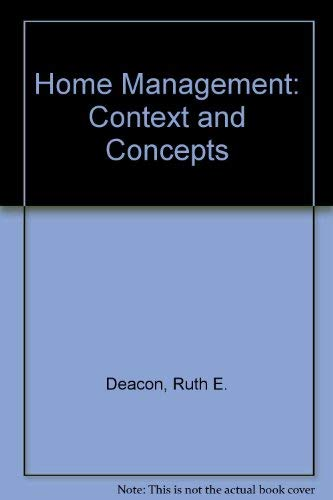 9780395189153: Home management: Context and concepts