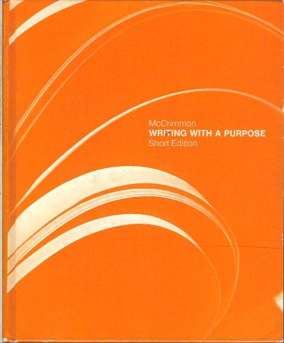 9780395192351: Writing with a purpose