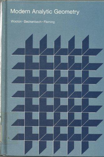9780395198087: Modern analytic geometry (Houghton Mifflin mathematics program)