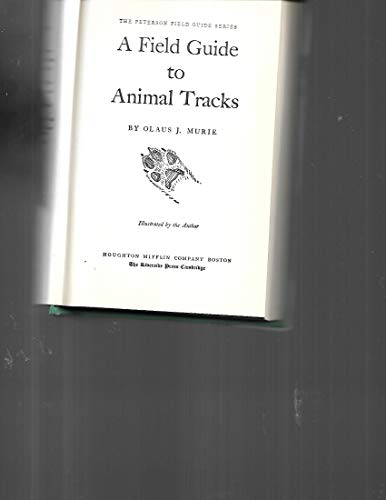 9780395199787: A Field Guide to Animal Tracks (Peterson Field Guides)