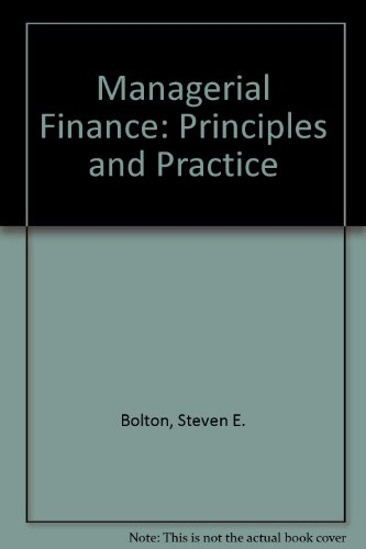 9780395204627: Managerial Finance: Principles and Practice