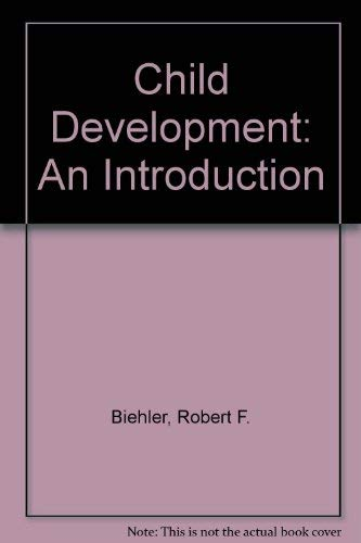9780395206508: Child Development: An Introduction