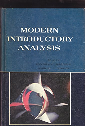 9780395251577: Modern Introductory Analysis
