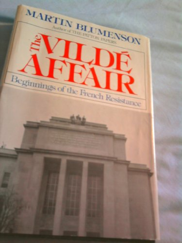 9780395253502: The Vilde Affair: Beginnings of the French Resistance