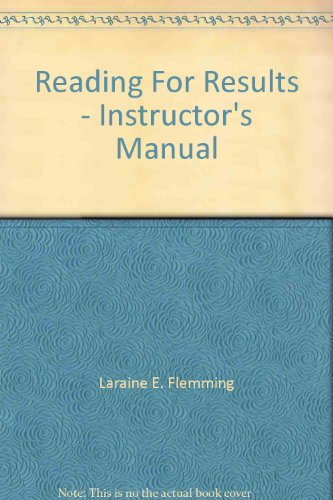 9780395254301: Reading For Results - Instructor's Manual