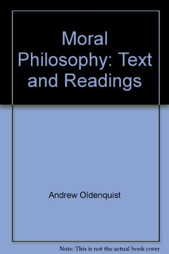 9780395254332: Moral philosophy: Text and readings