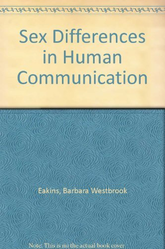 9780395255100: Sex Differences in Human Communication