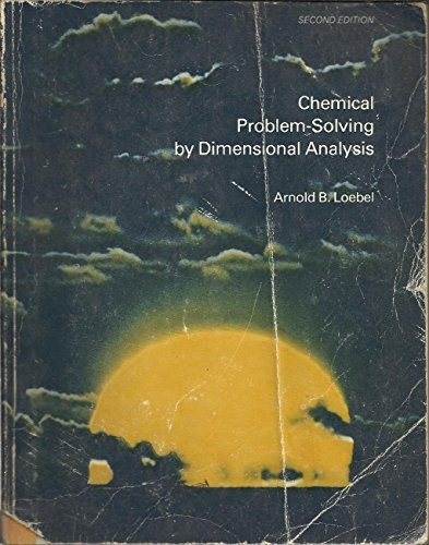 9780395255162: Chemical Problem Solving by Dimensional Analysis