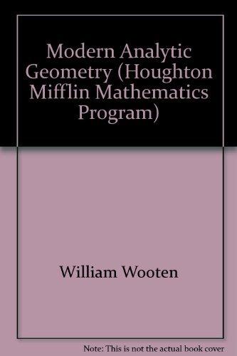 9780395255988: Modern Analytic Geometry (Houghton Mifflin Mathematics Program)
