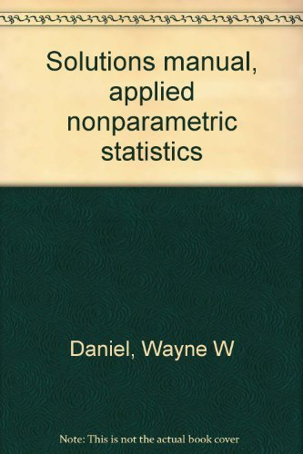 9780395257968: Solutions manual, applied nonparametric statistics