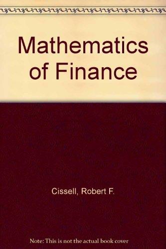 9780395258071: Mathematics of Finance