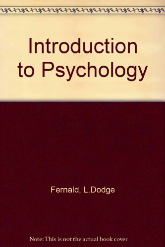 9780395258156: Introduction to Psychology
