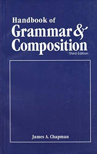 9780395261651: Handbook of Grammar & Composition 3rd Edition