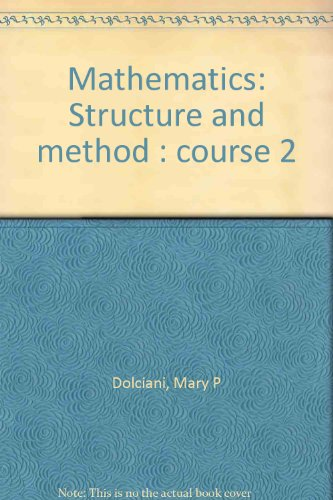 9780395264287: Mathematics: Structure and method : course 2