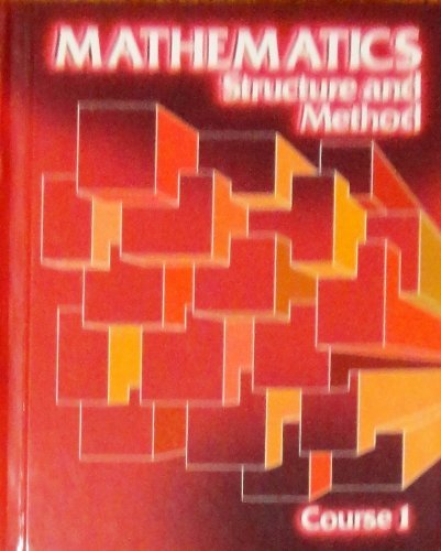9780395264362: Mathematics Structure and Method Course 1