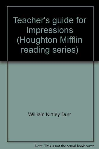 9780395266083: Teacher's guide for Impressions (Houghton Mifflin reading series)