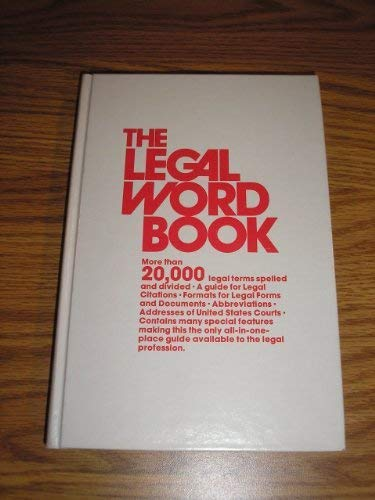 9780395266625: THE LEGAL WORD BOOK