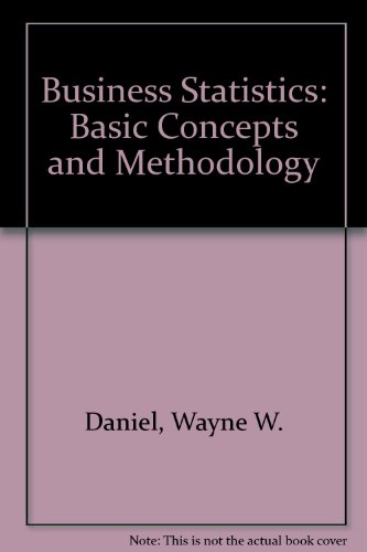 9780395267622: Business Statistics: Basic Concepts and Methodology