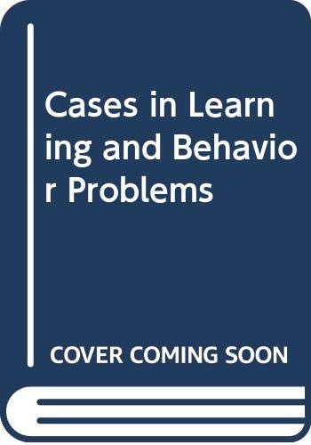 9780395284933: Cases in Learning and Behavior Problems