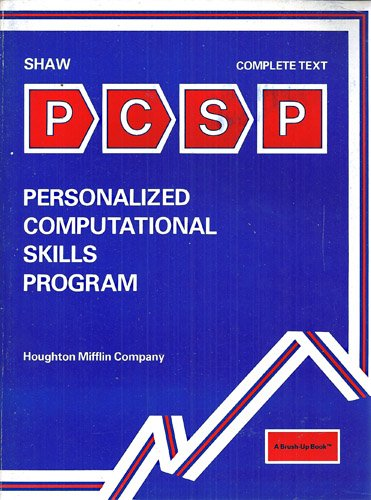 9780395290323: Personalized Computational Skills Program (A Brush-Up Book)