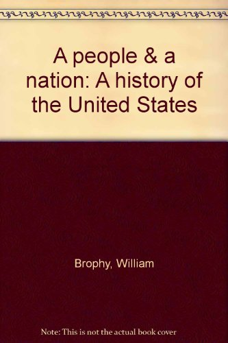 9780395290941: A people & a nation: A history of the United States