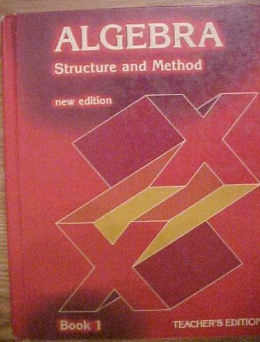9780395291887: Algebra Structure and Method New Edition Book 1
