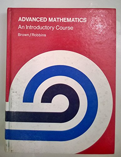 9780395293355: Advanced Math: An Introductory Course