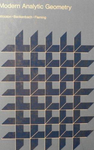 9780395293447: Modern Analytic Geometry