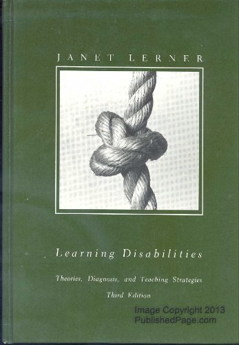 9780395297100: Learning disabilities: Theories, diagnosis, and teaching strategies