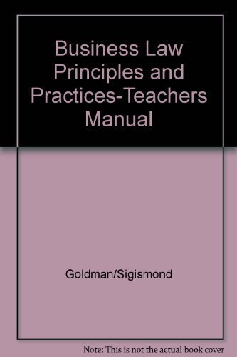 9780395298992: Business Law Principles and Practices-Teachers Manual