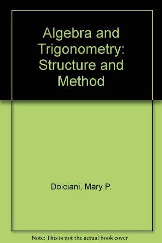 9780395300138: Algebra and Trigonometry: Structure and Method