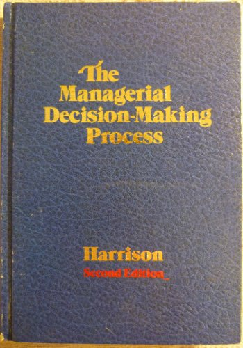 9780395300732: Managerial Decision-making Process