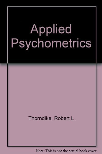 9780395300770: Applied Psychometrics