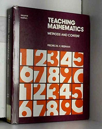 9780395307069: Teaching mathematics: Methods and content