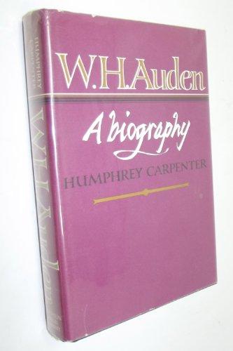 9780395308530: W.H. Auden, a Biography